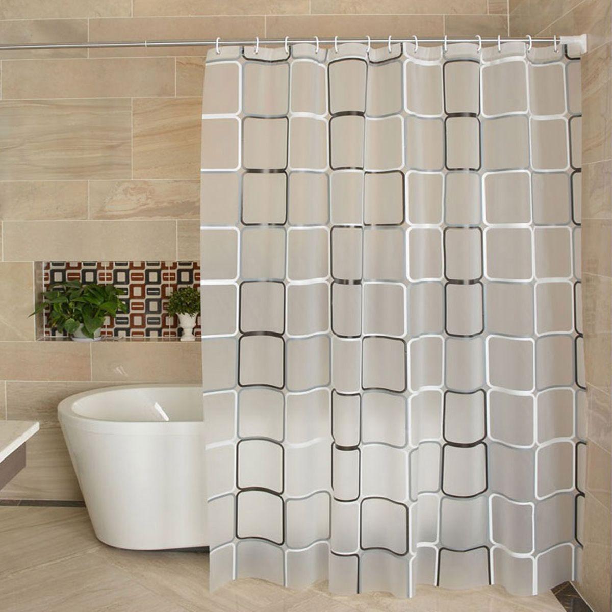 Waterproof Polyester Shower Curtain Liner Translucent Mildew Peva