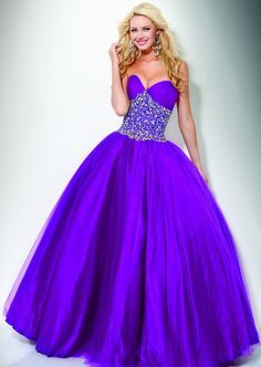 Neon colored quince dresses purple