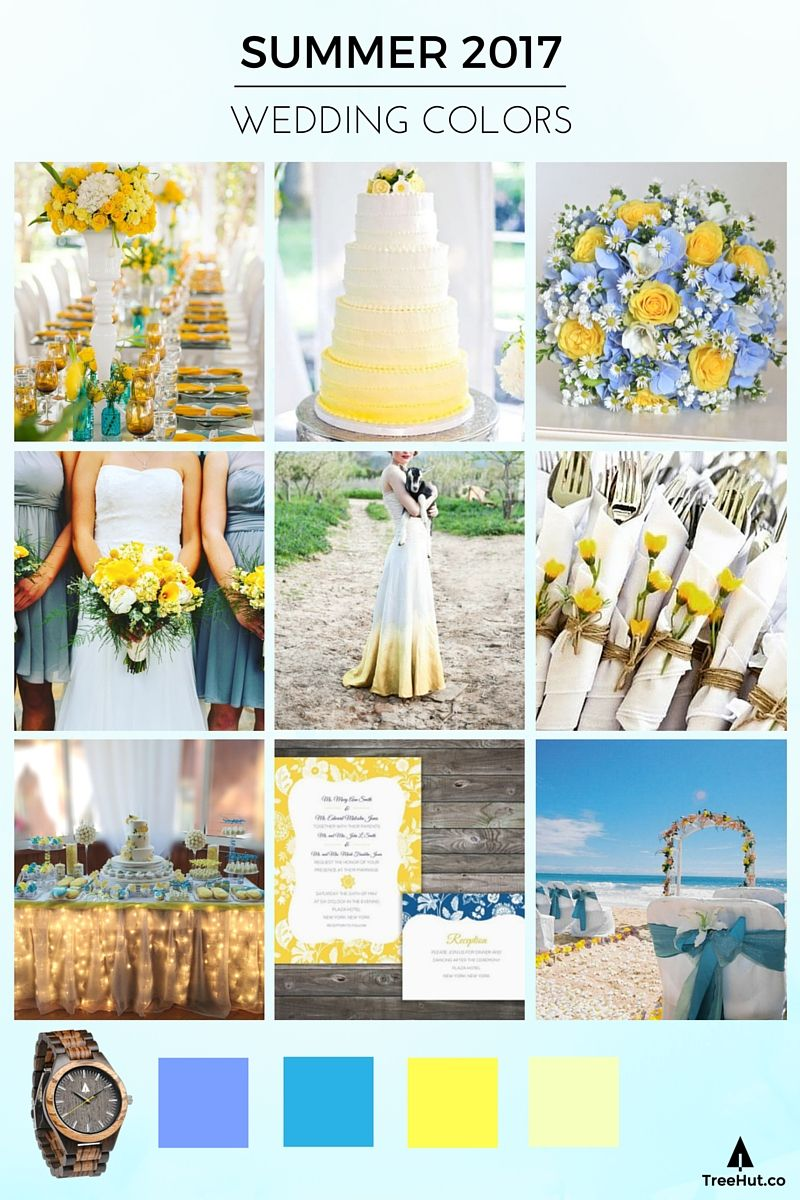Walk down the aisle in 2017 39 s popular wedding colors for Summer wedding color combinations