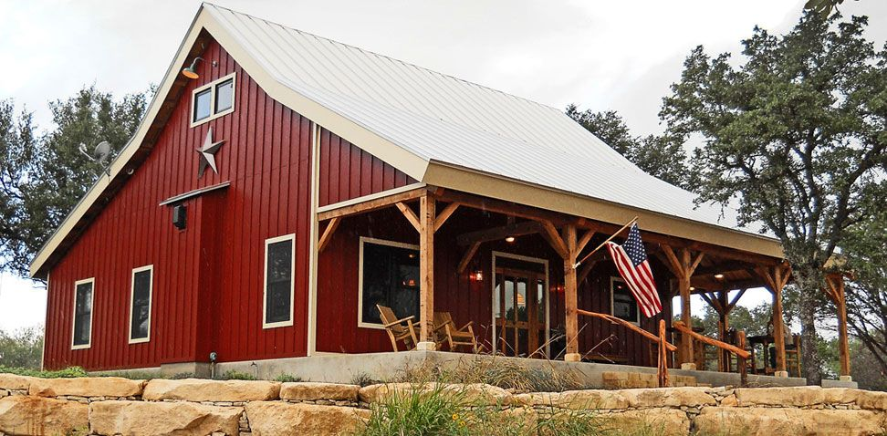 Ponderosa Country Barn Home Project Jya609 Like The Metal Siding But Would Need More Square Footage An Barn House Kits Barn Style House Plans Barn House Plans