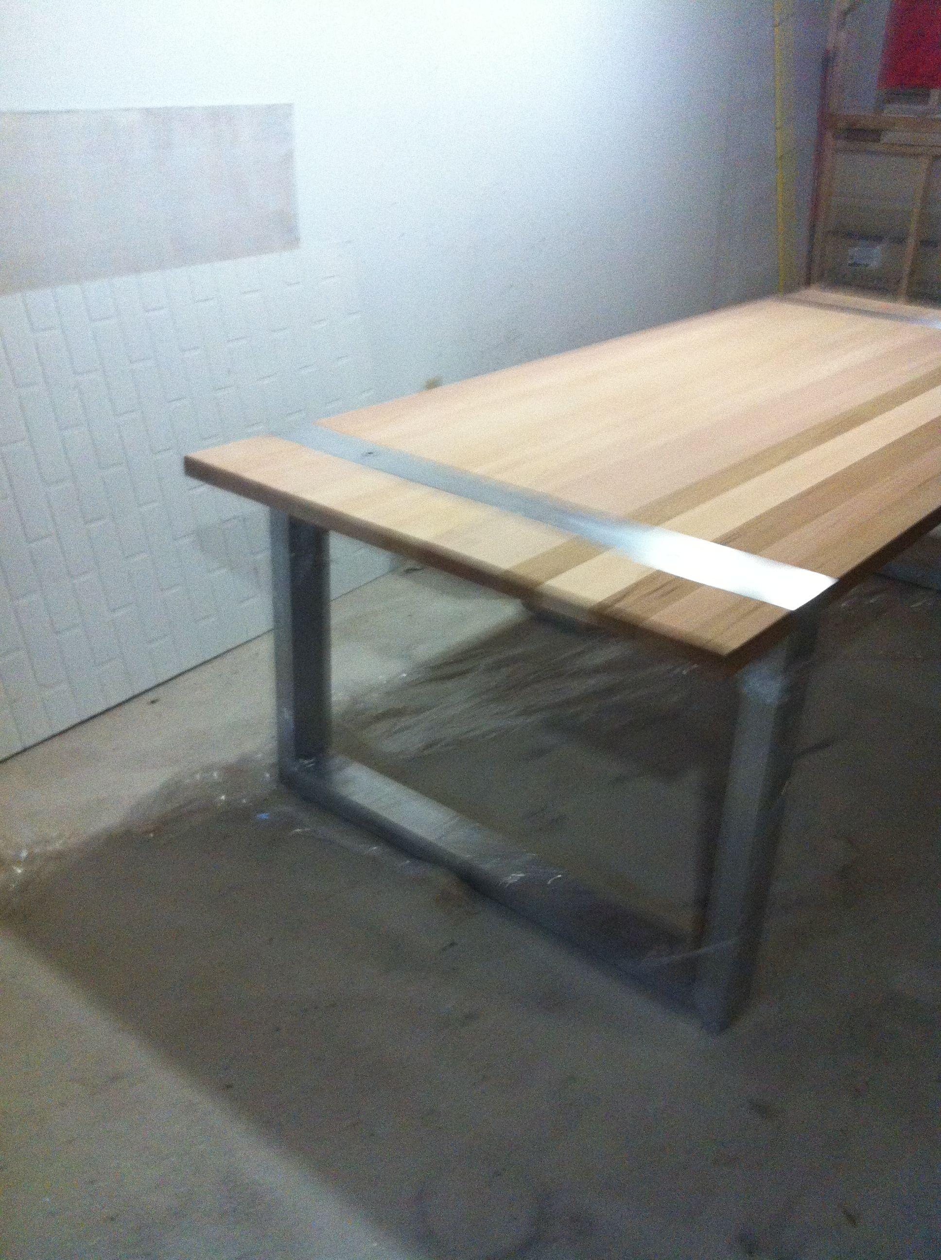 table ext rieur en c dre de l ouest d montable pour. Black Bedroom Furniture Sets. Home Design Ideas