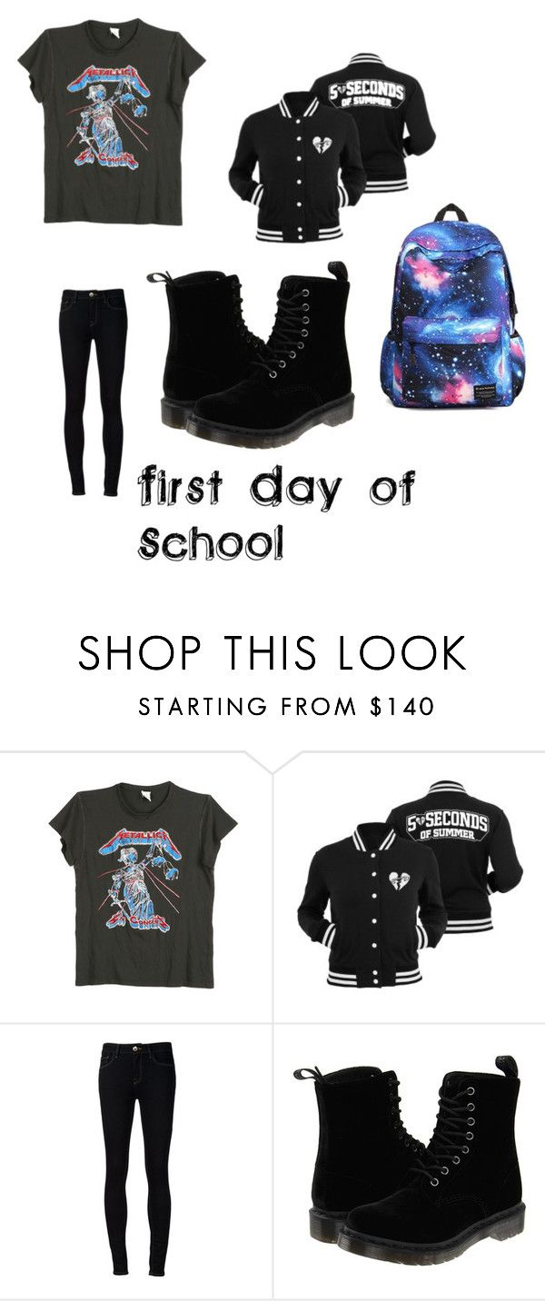 """""""first day of school"""" by cassie5sos on Polyvore featuring MadeWorn, Ström and Dr. Martens"""