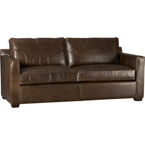 Davis Leather Sofa In Sofas Crate And Barrel