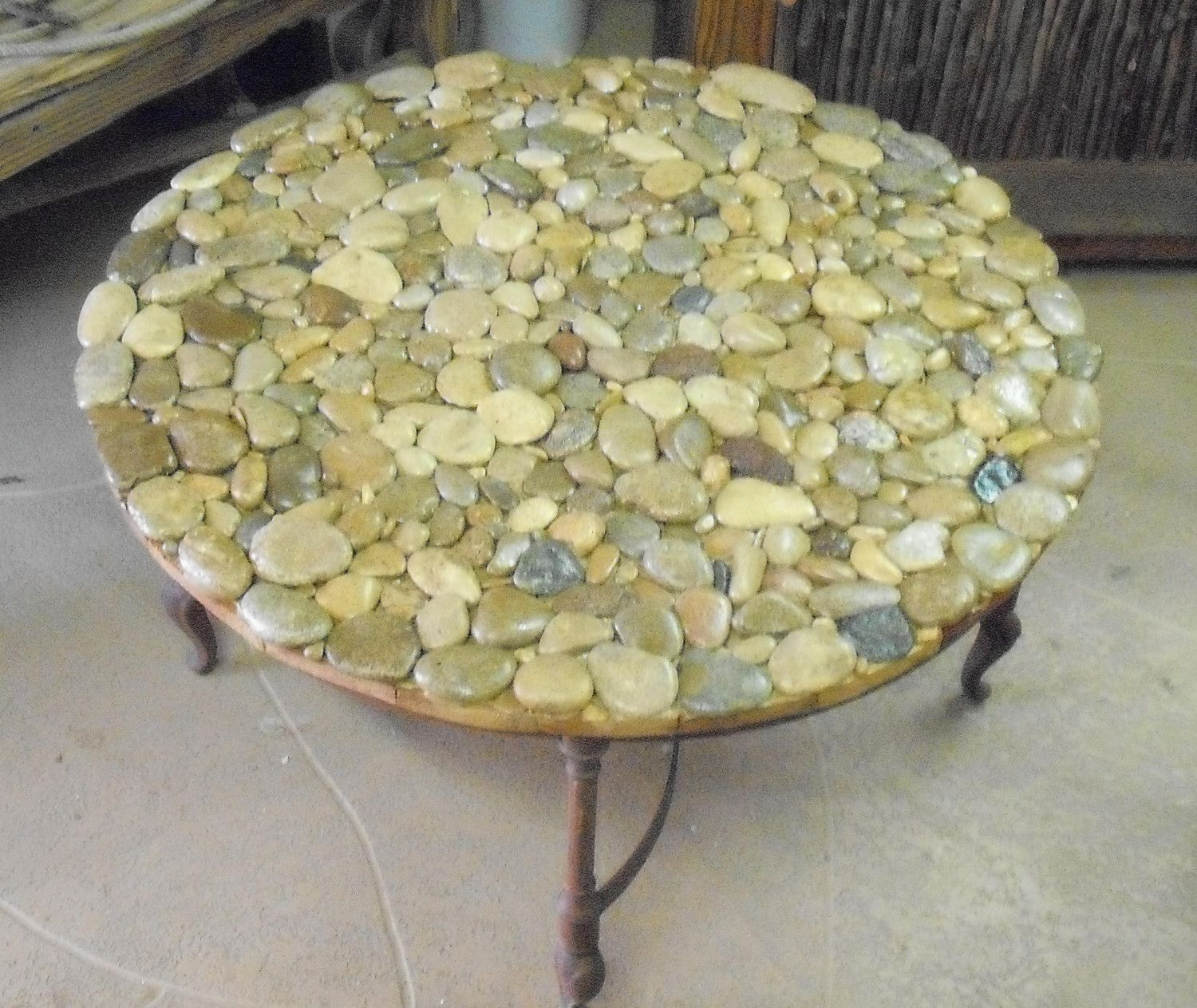 River Rock Coffee Table - Plaster Faux Rock Coffee Table By Sirmos Cocktails, Furniture