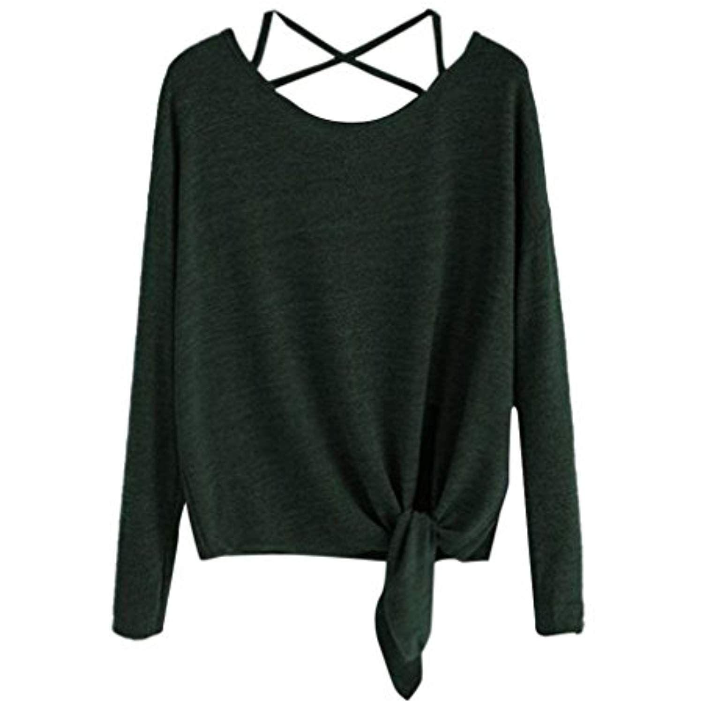 Womens Girls Chiffon Turn-Down Neck Long Sleeve Blouses Sweatshirts Sweaters Crop Tops Shirts