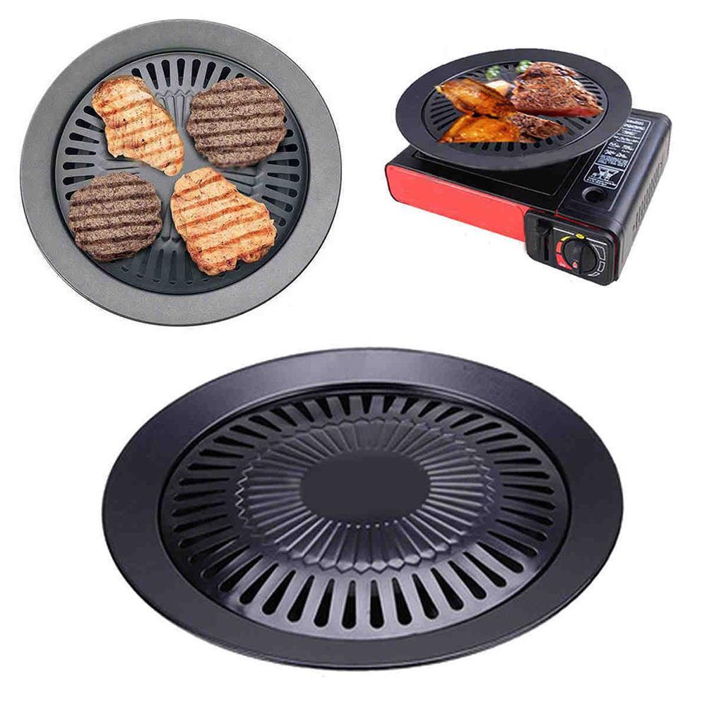 European Outdoor Smokeless Non Stick Gas Barbecue Grill Tool Gas Barbecue Grill Stovetop Grill Pan Barbeque Grill
