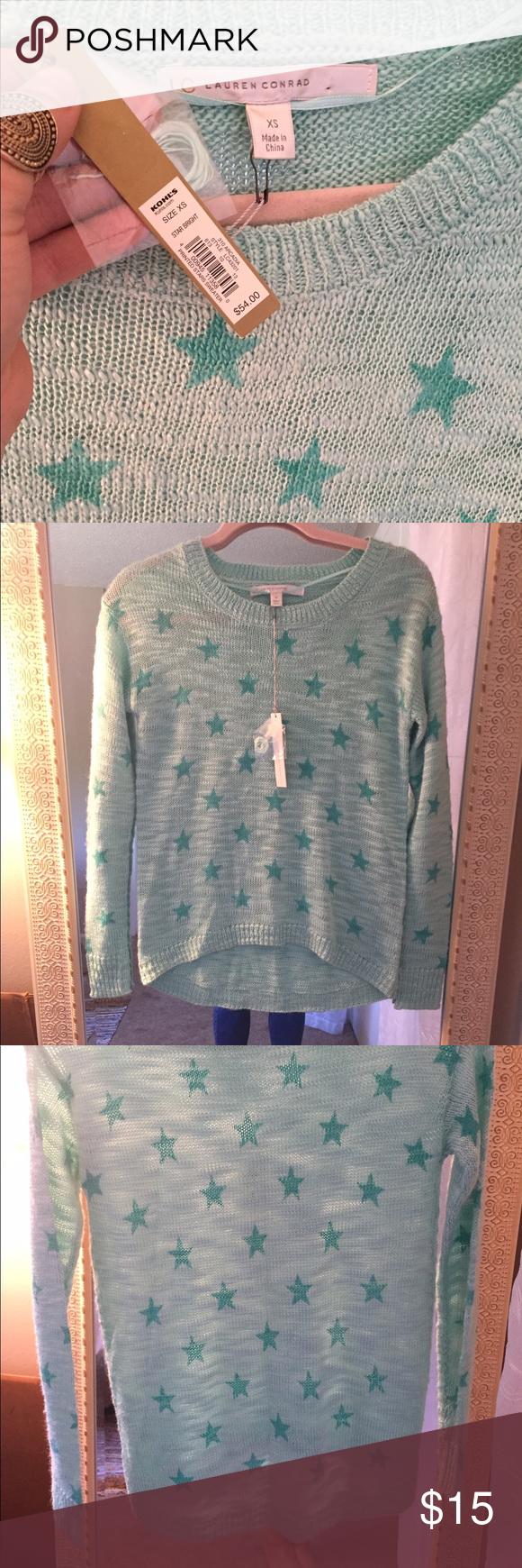 Lauren Conrad light Sweater NWT | Dark teal, Lauren conrad and LC ...