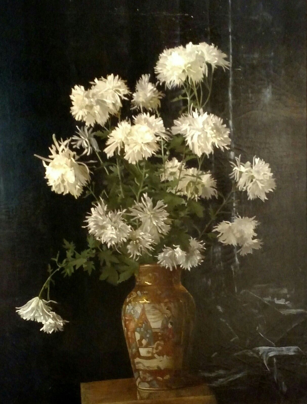 Untitled Oriental Vase With White Chrysanthemums 1888 Alberta Binford Mccloskey American 1885 1911 Gift Of Mrs Ele Oriental Vase Art American Painting