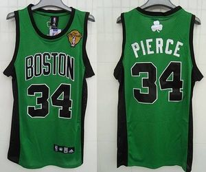 low priced 56734 dc1b5 Boston Celtics 34 Paul Pierce Stitched Green Black Number ...