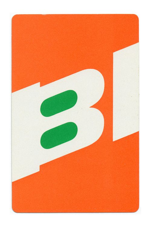 Alexander Girard. Braniff Airlines playing cards, c. 1968 via Scott Lindberg