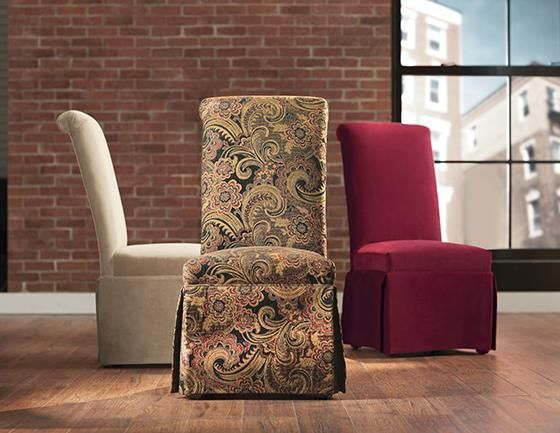Custom Rolled Back Parsons Chair With Skirt For The Home