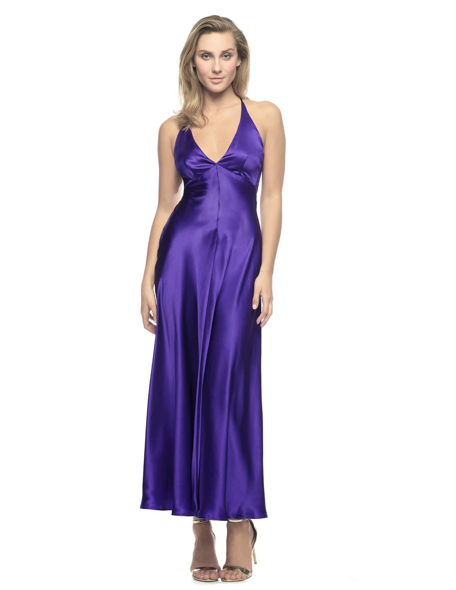 Jezebel afterdark long gown dark purple dresses night