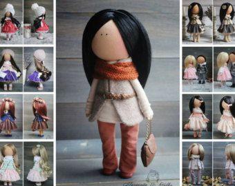 Soft doll grey blonde Handmade Gift doll Baby by AnnKirillartPlace
