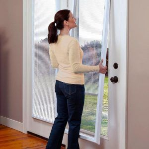 enclosed window blinds sliding add on enclosed window blinds treatments pinterest