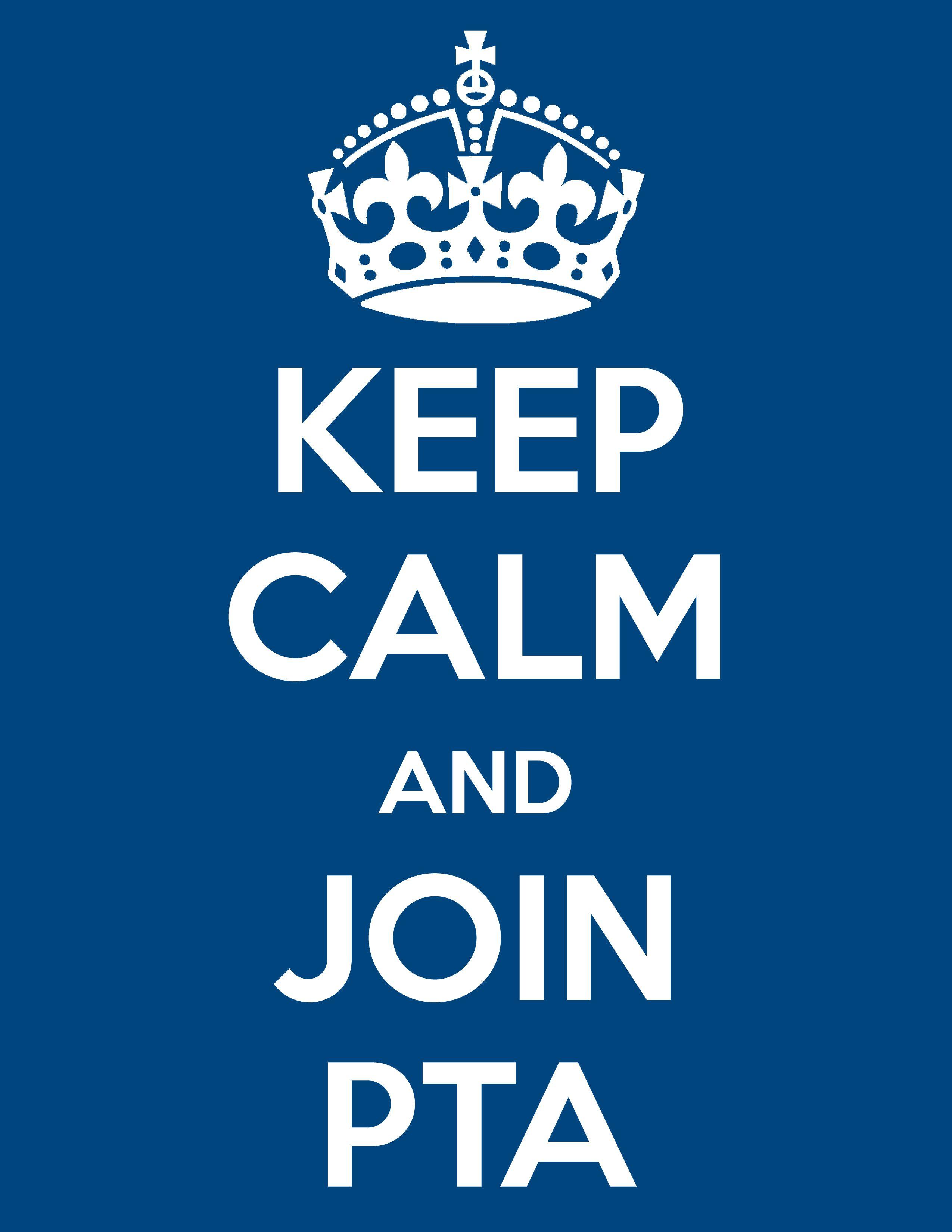 Keep calm and join PTA! Haha | PTA | Pinterest | Preescolar, Tapas y ...