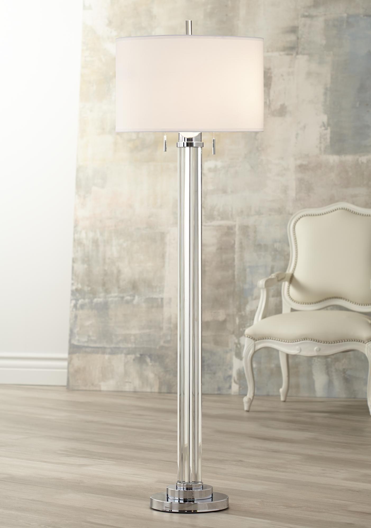 Possini Euro Cadence Crystal Column Floor Lamp 8W403