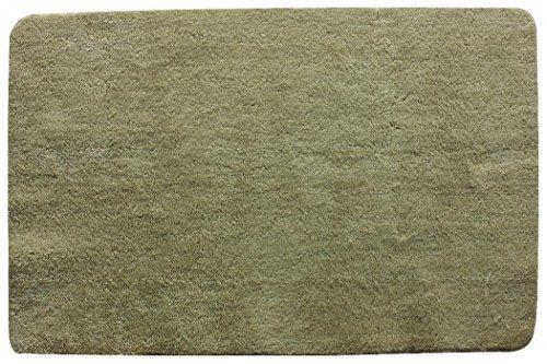 EUMAT Luxurious Soft Microfiber Non-slip Antibacterial Rubber Beige Colour Bath Mat for Bathroom Entrance Rugs Floor Mat 31.5