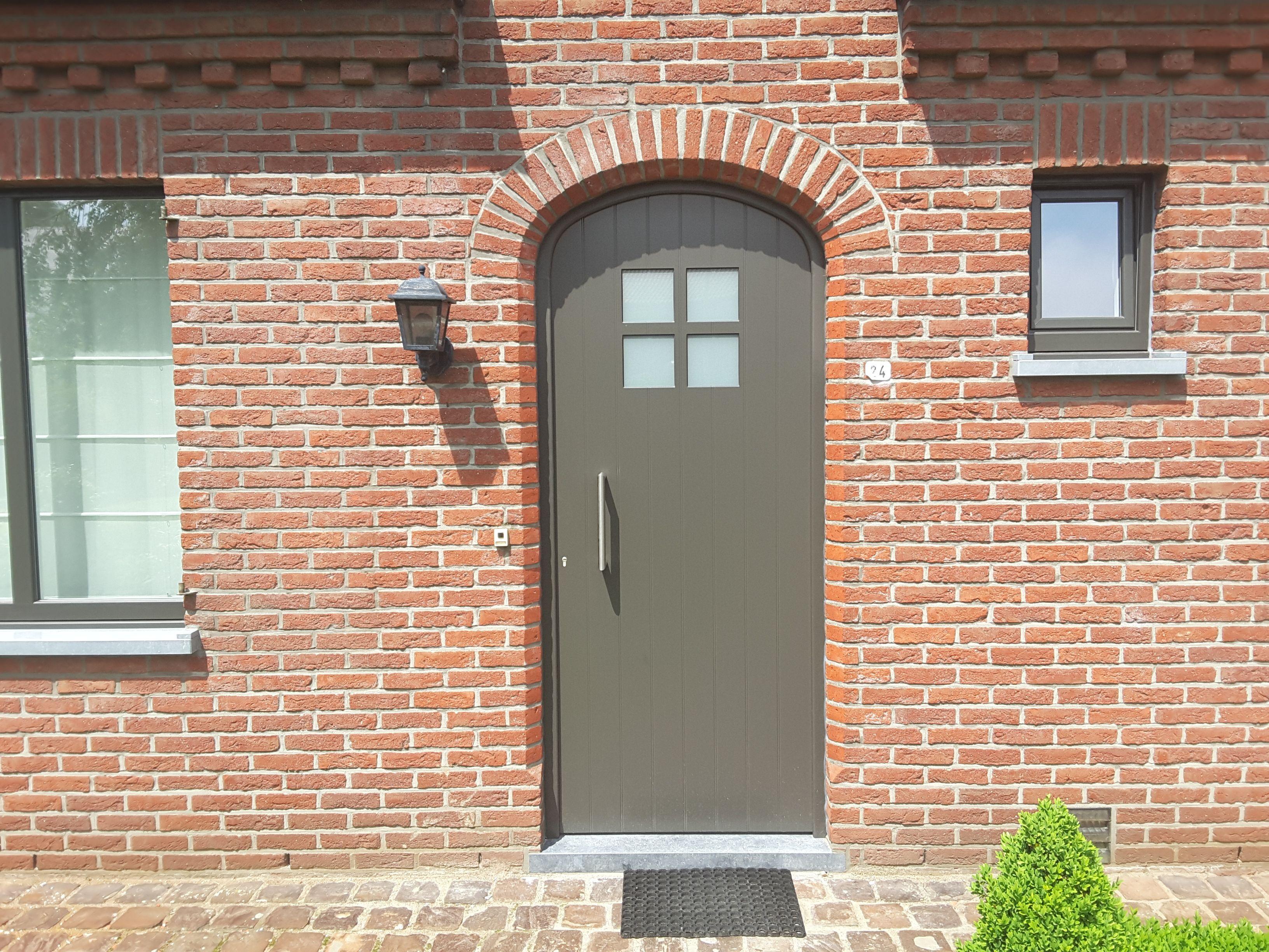 pvc deur deceuninck coating kleur vleugelovertrekkend. Black Bedroom Furniture Sets. Home Design Ideas