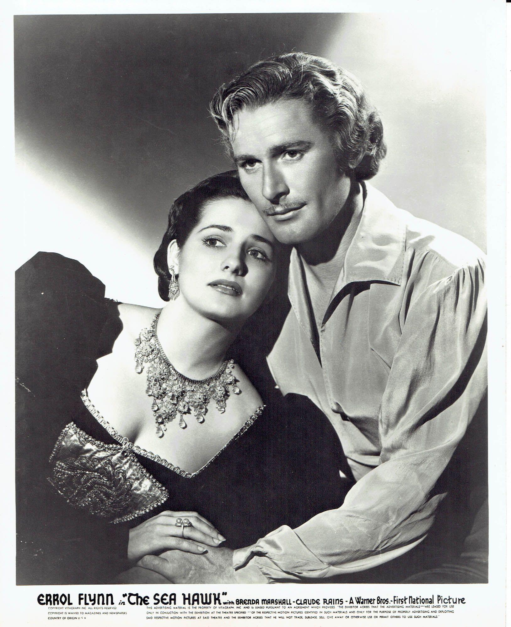 Errol Flynn with leading lady Brenda Marshall in \