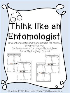 think like an entomologist insect worksheets educational finds and teaching treasures. Black Bedroom Furniture Sets. Home Design Ideas