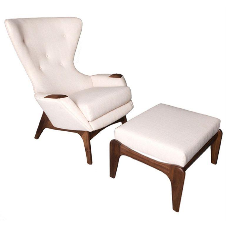Pleasant Adrian Pearsall Highback Lounge Chair Ottoman Chair Camellatalisay Diy Chair Ideas Camellatalisaycom