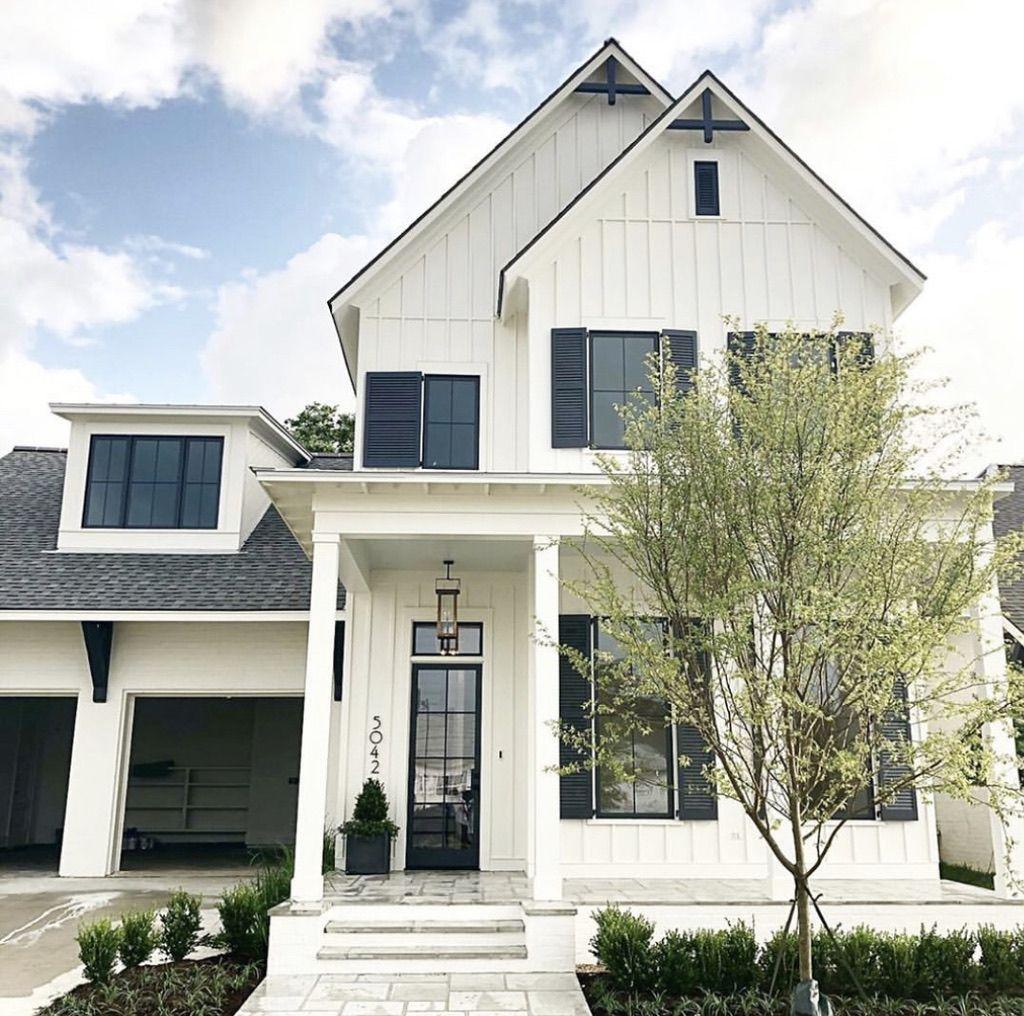 21+ White farmhouse black shutters ideas