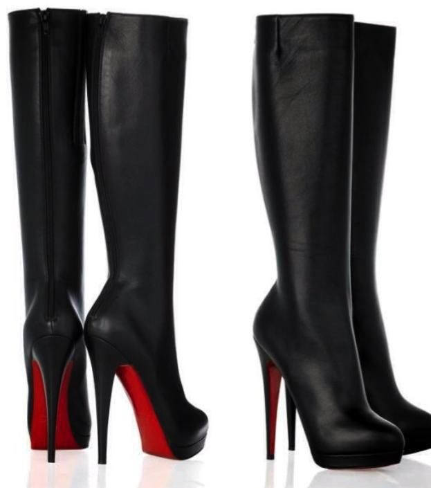 Black Stilettos with Red Bottoms