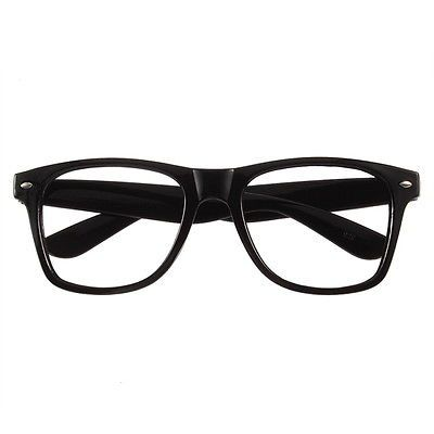 89c26e9788 Unisex Men Lady Geek Nerd Fancy Dress Eye Glasses Square Big Frame 12  Colors TR
