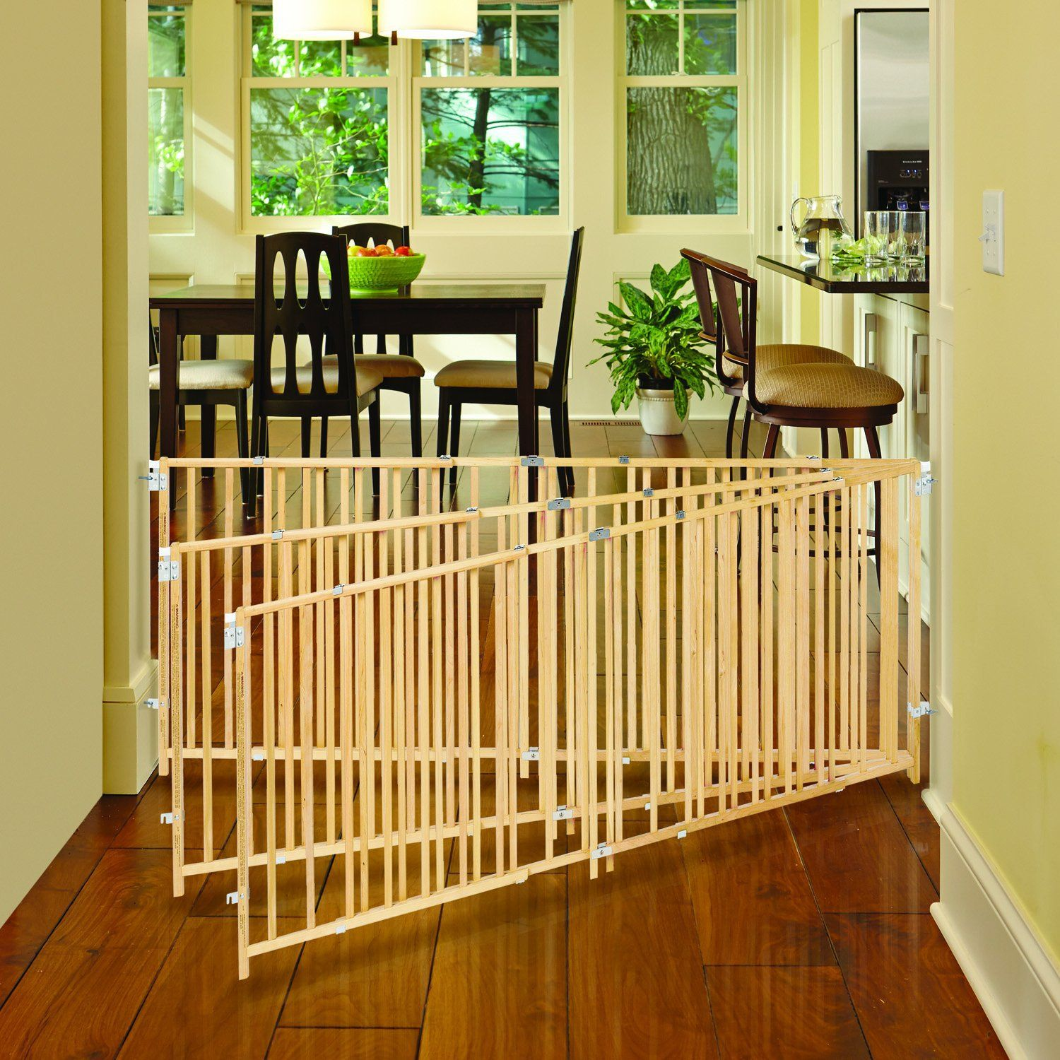 North States Supergate Wood Gate swings open and expands