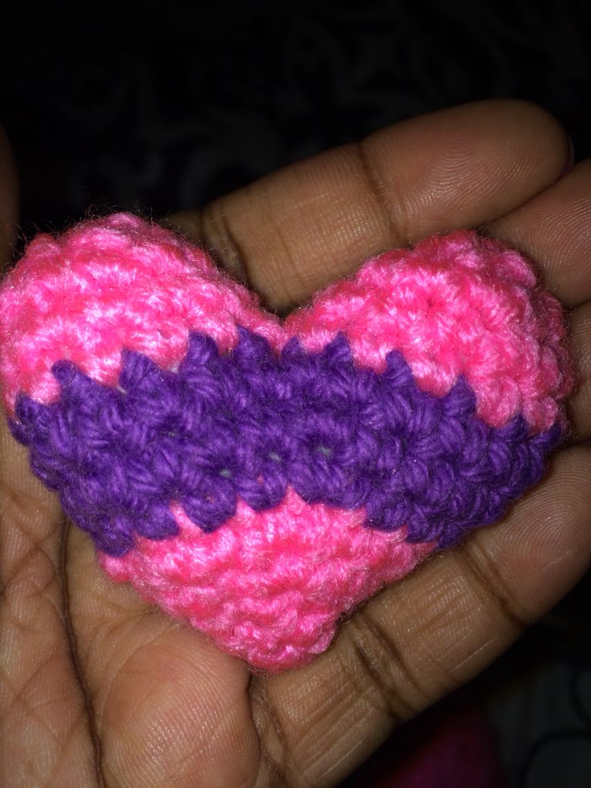 Pink and purple little heart straight from my heart to lay lay
