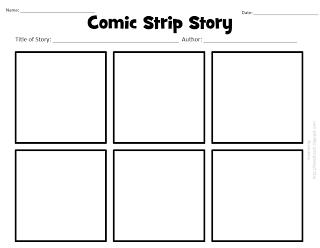 comic strip story template  Comic Strip story template | Teaching writing, Narrative ...