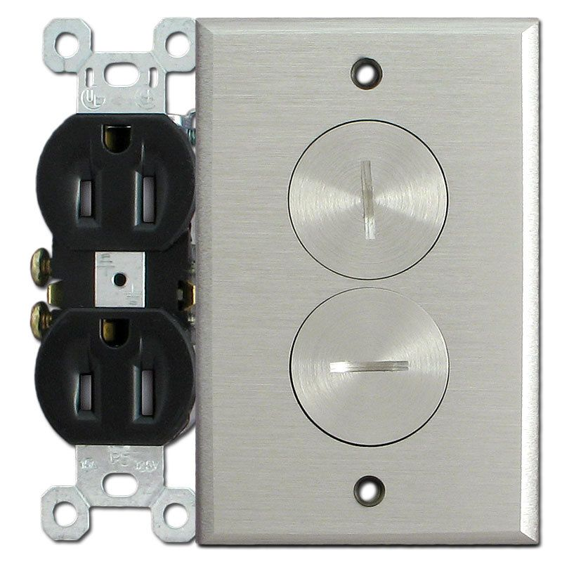 Electrical Outlet Nickel Cover Plate