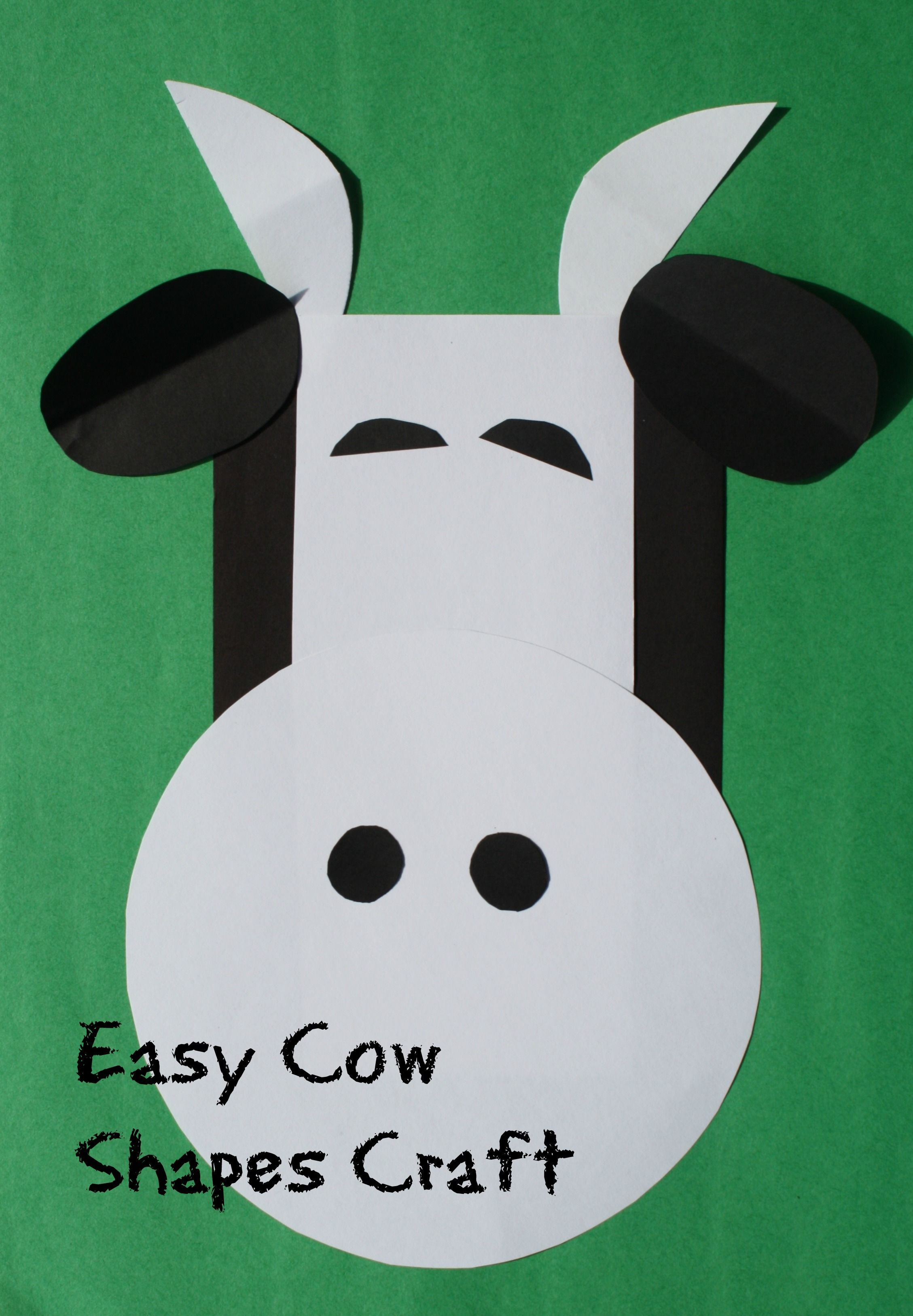 C is for Cow: Shapes Craft | Cow craft, Cow and Shapes