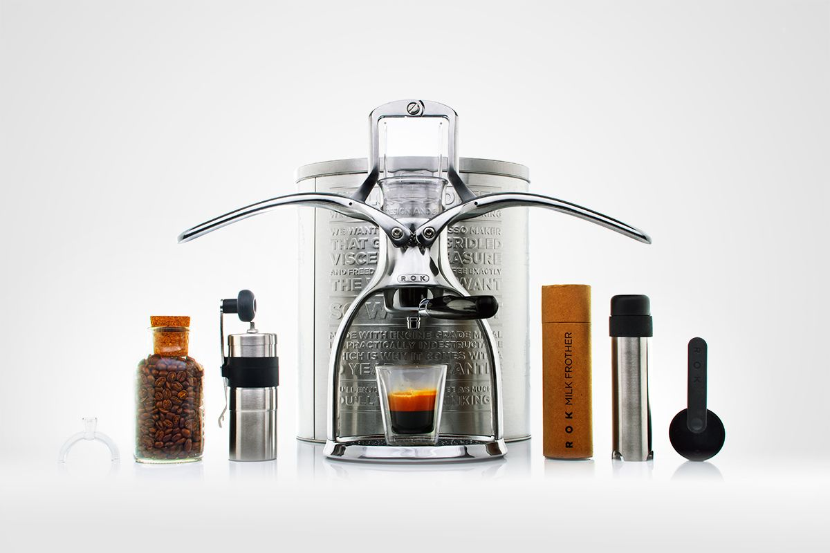 Presso Espresso maker, designed by Patrick Hunt since 2006