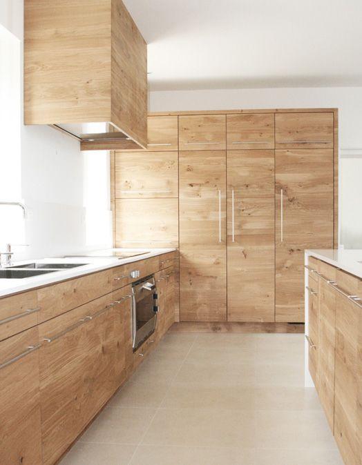 Meubles de cuisine en chêne tri-pli à noeuds - Ambiance - Renovation Meuble En Chene