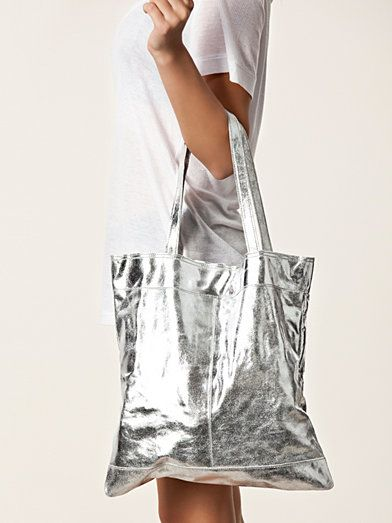Mille Suede Shopper - Selected Femme - Silver - Bags - Accessories - Women - Nelly.com Uk