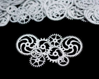 """8x SteamPunk Gears 3/4"""" - 1.5"""" (19mm - 38mm) STAINLESS STEEL - Designer's Special-"""