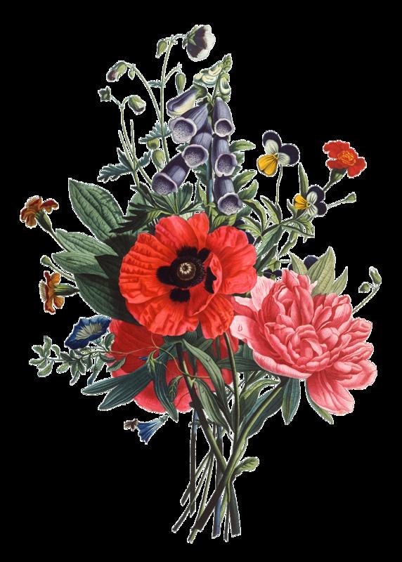 Открыток, букетики цветов картинки рисованные