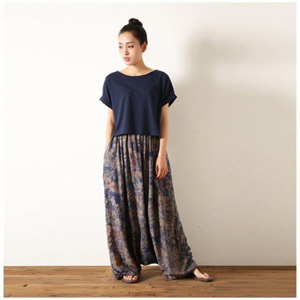 pantalons pantalons femmes coton lin vintage loose. Black Bedroom Furniture Sets. Home Design Ideas