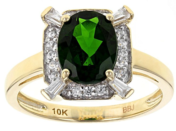 Green Russian Chrome Diopside 10k Yellow Gold Ring 1 98ctw Gold Studs Yellow Gold Rings Silver Rings