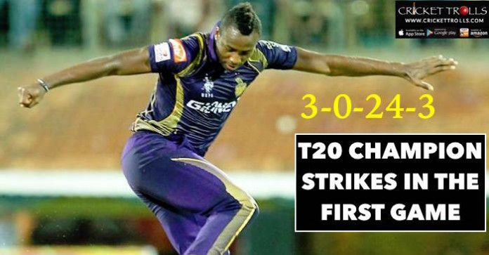 Man Of The Match Andre Russell Kolkata Knight Riders Ipl 2016