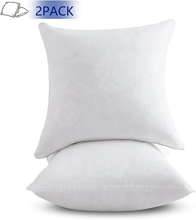 Amazon Com Emolli 20 X 20 Pillow Inserts Set Of 2 Throw Pillow Inserts Premium Stuffer Down Alternative Super Sof Throw Pillow Inserts Pillows Pillow Cushion Pillow inserts 20 x 20