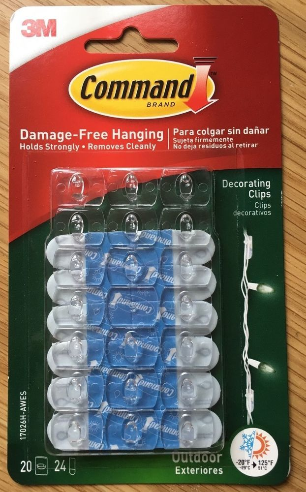 3M Command Decorating Hooks / Clips for Fairy Lights NEW ...