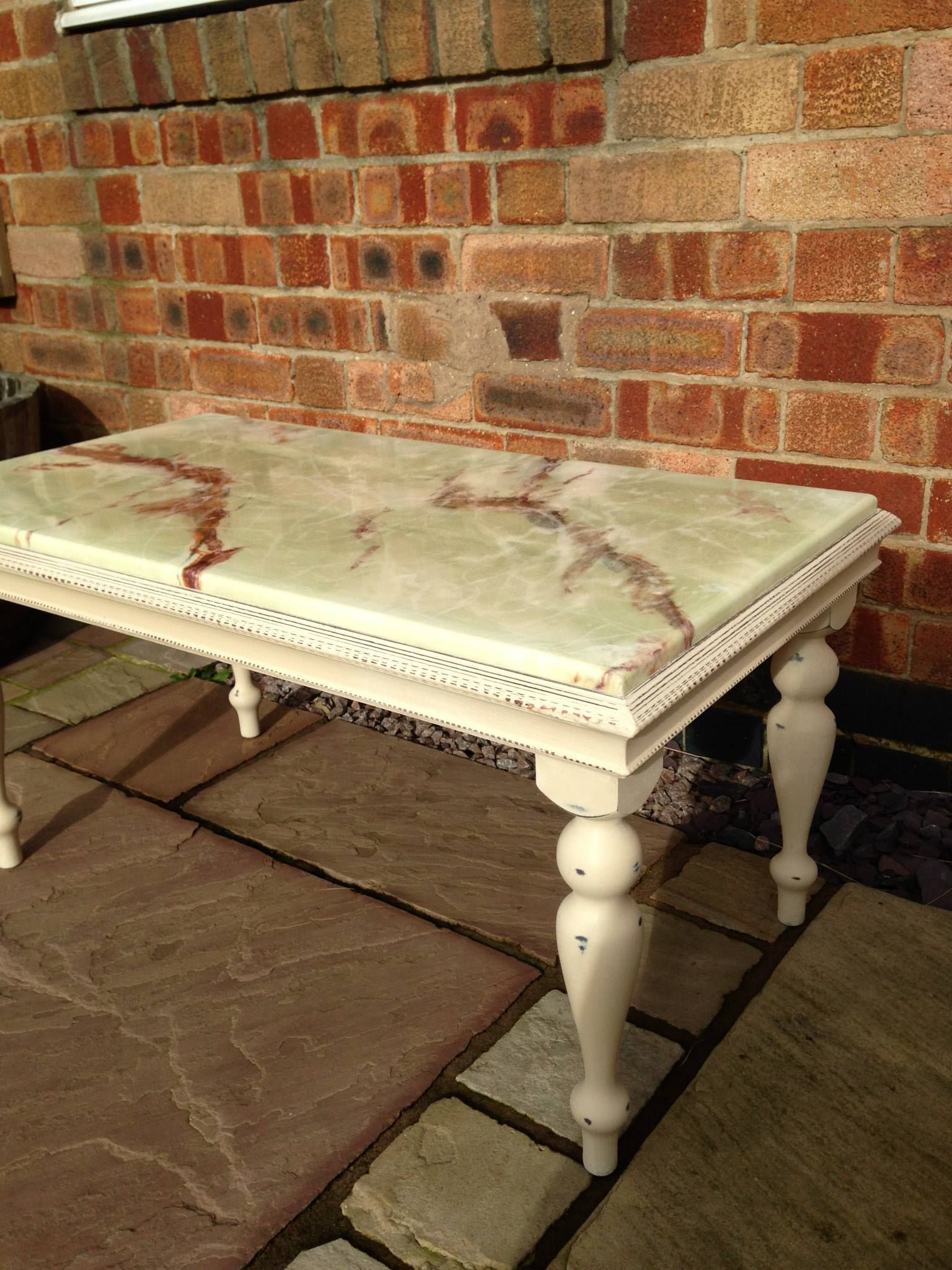 chalk paint marble top | Marble Top Coffee Table | Marble ...