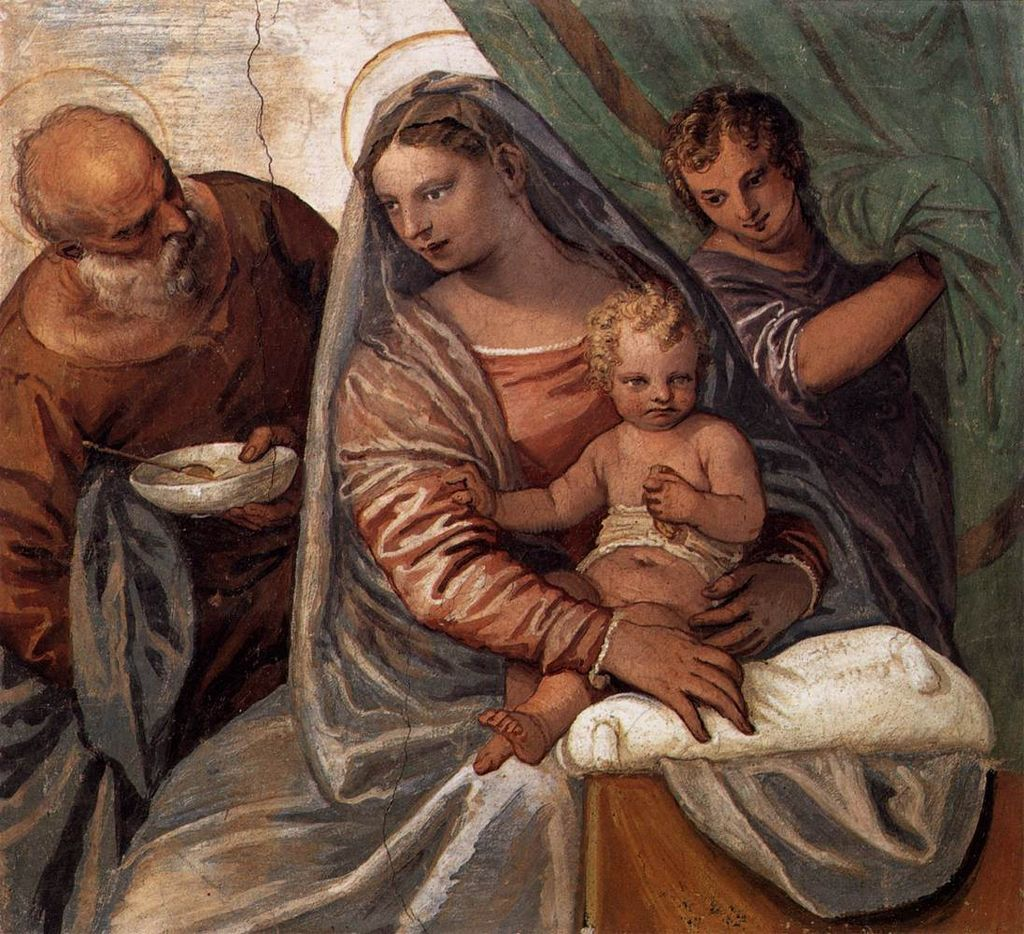 Arte Wikipedia It The Holly Family Paolo Veronese Villa Barbaro Arte Mariano