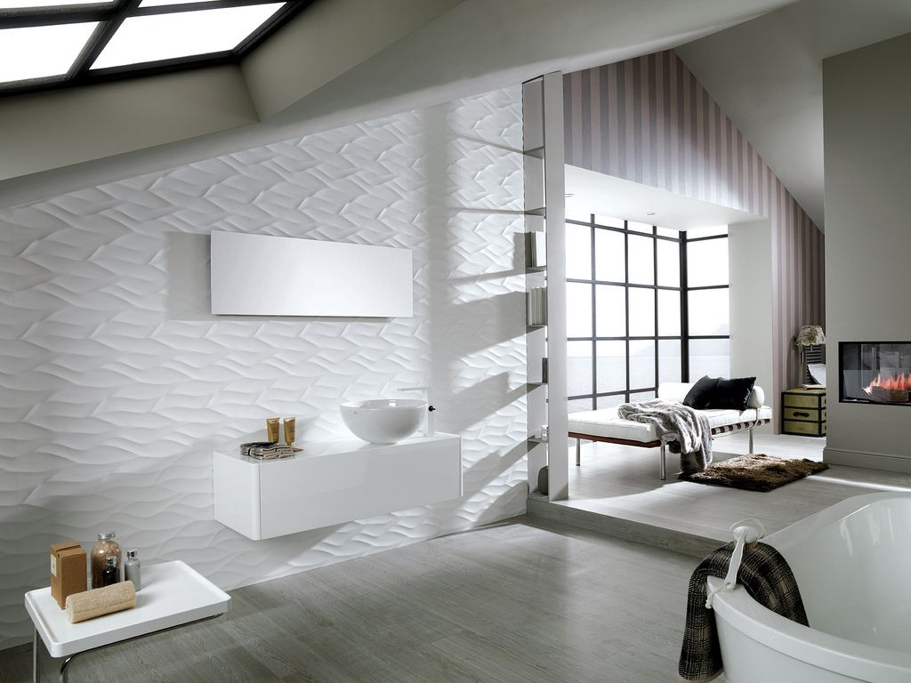 Porcelanosa ona white tile to be used for master bath for Porcelanosa bathroom ideas