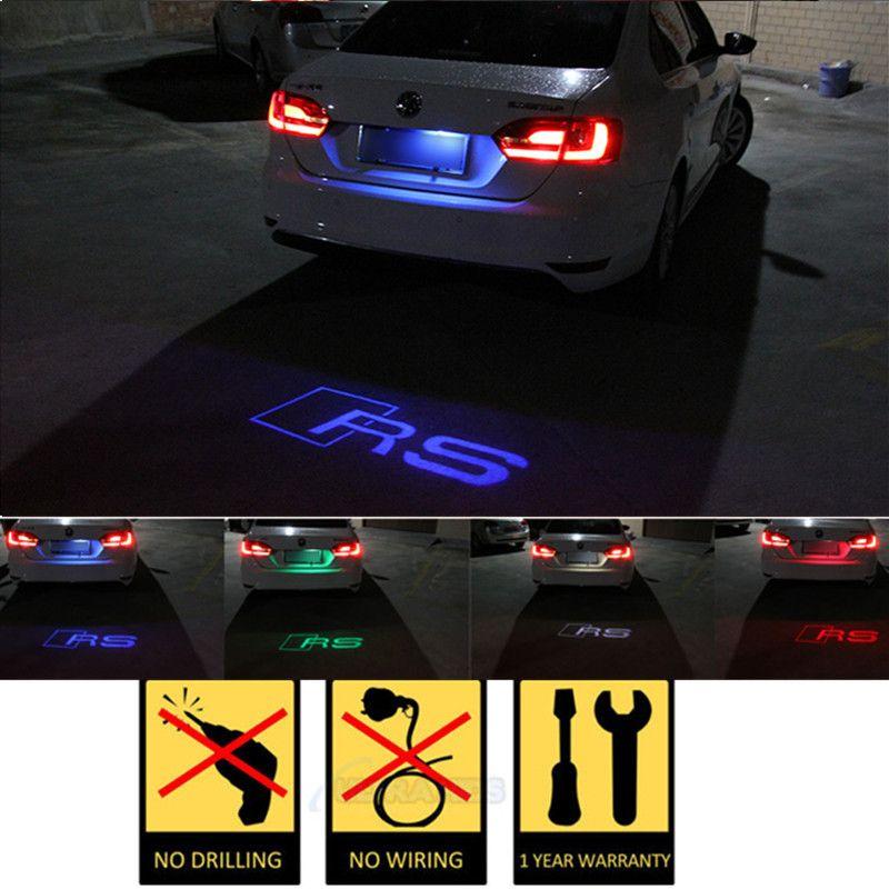1pcs CANBUS Car LED License Plate Light 12V LED Logo projection ...