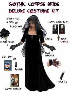 b46c6fde2c3 SALE! Plus Size Corpse Bride or Plus Size Gothic Ghost Bride Costume ...