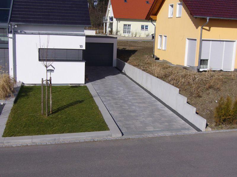 Aussenanlagen Stützmauer in Sichtbeton #dekoeingangsbereichaussen