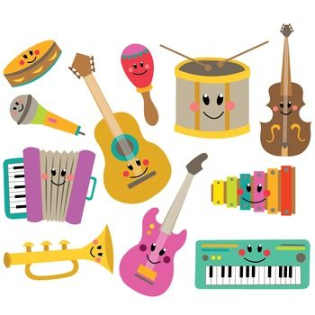 Image result for Music instrument clip art